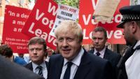 Boris Johnson surt, ahir, de les seves oficines a Londres