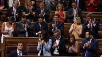 Aplaudiments a Casado , a Rivera i Santiago Abascal