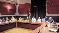 Una imatge de la sessió plenària d'ahir al vespre celebrada a Ripoll, que havia estat convocada amb urgència