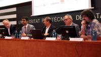 El conseller Puigneró explica, ahir, el pròxim laboratori de 5G que tindrà Catalunya