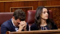 El tàndem Rivera-Arrimadas , al Congrés de Diputats, ahir