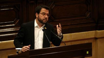 El vicepresident Aragonès, en una intervenció al Parlament