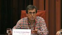 El periodista de Público Carlos Enrique Bayo va comparèixer ahir al Parlament