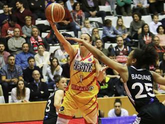 Núria Martínez aquest març passat en l'eliminatòria contra el Lió