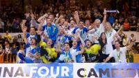 El Lleida Llista quan va guanyar el títol de l'Europa Cup.