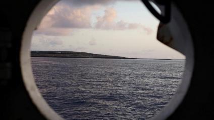 Vista de la costa italiana des de l'Open Arms