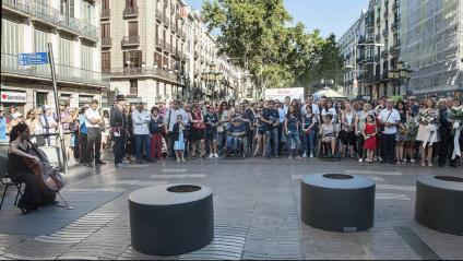 Segon aniversari dels atemptats de Barcelona i Cambrils, que van provocar 16 morts i més d'un centenar de ferits