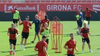L'entrenament d'ahir del Girona a Montilivi