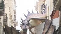 El drac que sobrevola el decorat del carrer Progrés, el guanyador