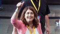 Marta Pascal, fa un any, durant l'assemblea nacional del PDeCAT
