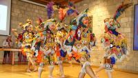 El Ballet Folklórico Nacional de Guatemala va fer ahir al matí una demostració al Caixafòrum Girona