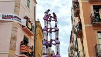 El magnífic 5 de 9 descarregat ahir per la Colla Jove Xiquets de Tarragona a la plaça de les  Cols