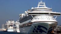Tres creuers amarrats al moll del Port de Barcelona