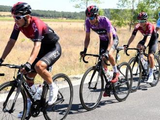 Ramiro Sosa, en segon lloc, en una etapa de la Volta a Burgos