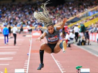 Nafi Thiam , amb la seva característica cabellera a l'estil  'rastafari', va volar fins a 6,86 m, marca personal i nou rècord belga