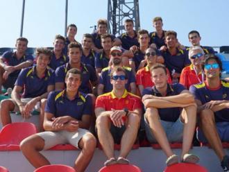 L'equip espanyol, amb 14 catalans, que ha guanyat la plata en l'europeu de Tiflis