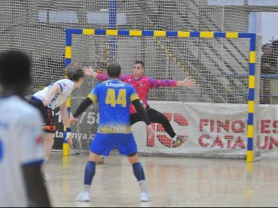 Oswaldo i Guitart en un dels seus duels als set metres