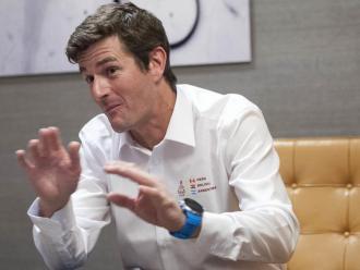 Marc Coma, en una entrevista amb L'Esportiu