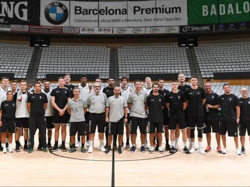 Tècnics i jugadors, en la primera jornada d'entrenaments del Joventut 2019/20