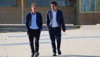 Jaume Asens i Gerardo Pisarello el juny passat sortint de visitar els presos polítics a Soto del Real