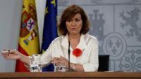 La vicepresidenta en funcions del govern espanyol, Carmen Calvo