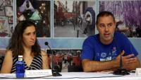 La presidenta de la Fundació Festa Major de Gràcia i el regidor del districte