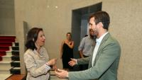 Pablo Casado i Margarita Robles van coincidir ahir a Gran Canària amb motiu de la visita a la zona incendiada