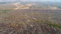 Vista aèria d'una zona afectada per un incendi al Mato Grosso, al Brasil