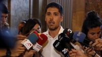 El diputat de CatECP, David Cid, al Parlament després de la compareixença d'Aragonès