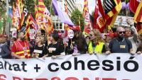 Capçalera de la manifestació del darrer Primer de Maig a Barcelona