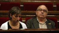 La consellera de Salut, Alba Vergés i el responsable d'Educació, Josep Bargalló