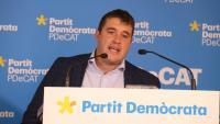 El president del PDeCAT, David Bonvehí, aquest estiu a la seu del partit