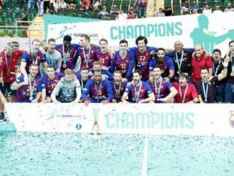 El Barça celebrant el títol del 2019