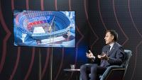 Josep Maria Bartomeu, en una entrevista a Barça TV