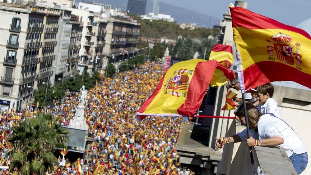 La manifestació espanyolista de Barcelona de l'octubre del 2017