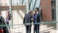 El secretari de Reinserció, Amand Calderó, rep el president Torra, a Lledoners