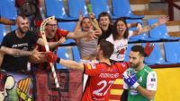 Àlex Rodríguez celebra un dels seus gols