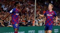 Ansu Fati i Frenkie De Jong protagonistes en els dos primers gols del Barça