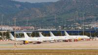 Avions de Vueling a l'aeroport del Prat