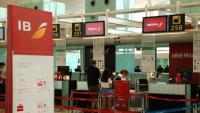 Aeroport del Prat de Llobregat a la darrera jornada de vaga el 31 d'agost