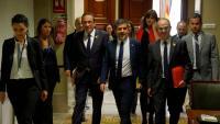 Rull, Sànchez i Turull, al Congrés el passat mes de maig per recollir les acreditacions de diputats
