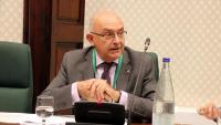 El director de l'Oficina Antifrau, Miguel Ángel Gimeno, en la compareixença d'ahir al Parlament