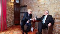 Boris Johnson i Jean-Claude Juncker, durant la seva trobada d'ahir a Luxemburg