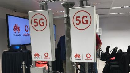 Antena de vodafone i Huawei de tecnologia 5G