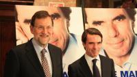 Els expresidents del govern espanyol Mariano Rajoy i José María Aznar