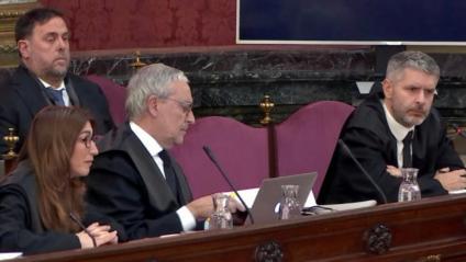 Junqueras i els advocats al Suprem