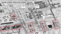 Imatge per satèl·lit de l'impacte de l'atac contra la refineria saudita d'Abqaiq