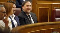 Oriol Junqueras, a l'escó del Congrés dels Diputats durant la sessió constitutiva