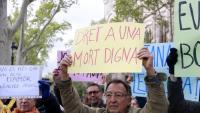 Manifestació de suport a Ángel Hernández, investigat per la mort de la seva dona, en estat terminal