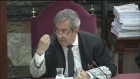 El fiscal Javier Zaragoza durant el judici de l'1-O